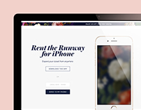 Rent the Runway, Mobile App Landing Page