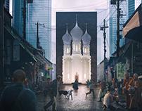 Far future orthodox church