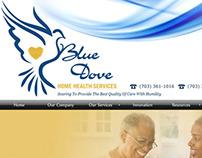 Custom Logo Design: Blue Dove Home Health Services
