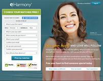 eHarmony homepage update