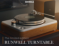 Shinola's turntable website redesign