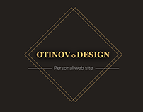 Otinov.Design - web site