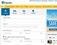 Expedia Homepage 2012