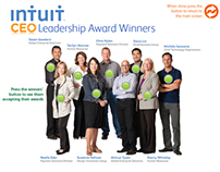 Intuit's CEO Leadership Award Winners iPad Application