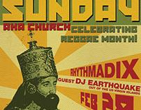 Kulcha Shok - February Flyers for Reggae Sunday Event