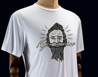 Hyk hier (look here) T-shirt design
