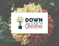 Down To Earth Gardens - Logo & Website Design