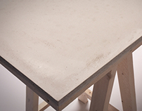 Concrete desk  collaboration with Ruben van Houten