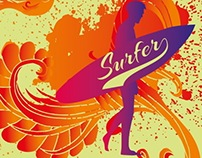 over 150 surfer vector graphic design images