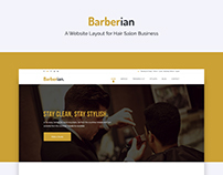 Barberian - A website for Salon Business
