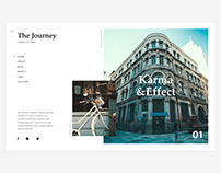 Photographer Wordpress Theme concept