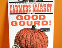 Letterpress Pumpkin Poster