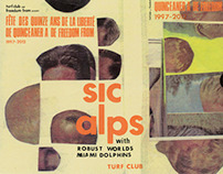 Sic Alps poster (MVA/Landland collaboration)