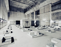 Concrete storage bunker