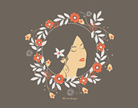 Flower Girl Illustration