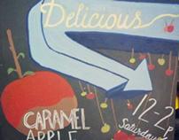 Caramel Apple Chalkboard