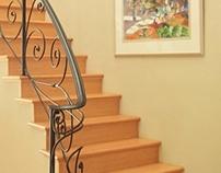 Scroll Iron Stair Rail
