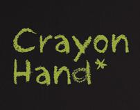 Crayon Hand Typeface