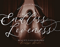 ENDLESS LOVENESS BEAUTY CALLIGRAPHY - FREE FONT