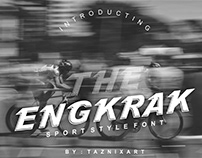Engkrak Is font sans serif bold italic sport style