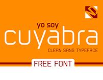 cuyabra typeface - free font