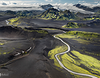 Iceland from bird's eyes