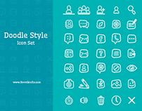 Doodle Style Icon Set
