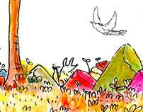 A floresta, o pássaro e a raposa (animação)