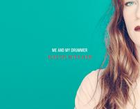 "Me & My Drummer ""Blue Splinter View"" Single Cover Art"