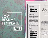 Joy Free Resume Template