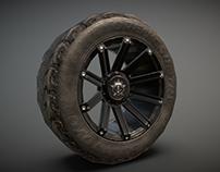 Lowpoly offroad wheel