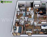 3D Home Floor Plan Designs By Yantram floor plan design