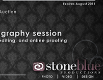 Stone Blue Productions | Promotional Gift Certificate