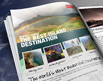 Travel Print Ad Flyer Template v1