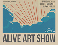 Surfers Coffee Bar | Alive Art Show Event Poster