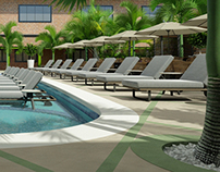 Piscina + Terraza Hotel Las Palmas Inn