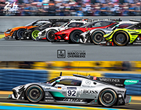 TODAY'S HYPERCARS IN LE MANS GT1 SPEC RACING LIVERIES