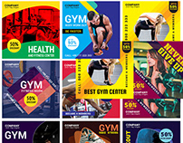 Fitness GYM Social Media Template