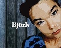 Björk in blue