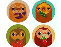 Sloth Magnet Set