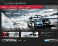 Audi - Driving Experience Web Site