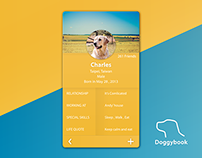 DailyUI 006 - Doggybook profile page