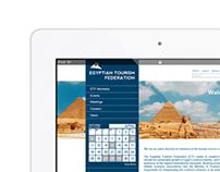 Egyptian Tourism Federation Web Design