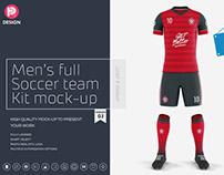 Men's Full Soccer Team Kit mockup V3