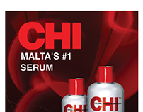 advert poster for chi serum