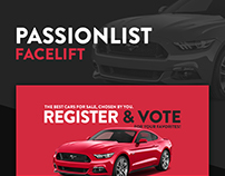 Passionlist - Car Classifieds Web Design
