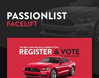 Passionlist - Car Classifieds Web Design