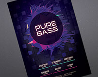 Pure Bass Flyer Template