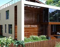Cottage architectural visualization/ 3dvisualization