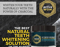 activeWOW - Activated Coconut Charcoal Poweder
